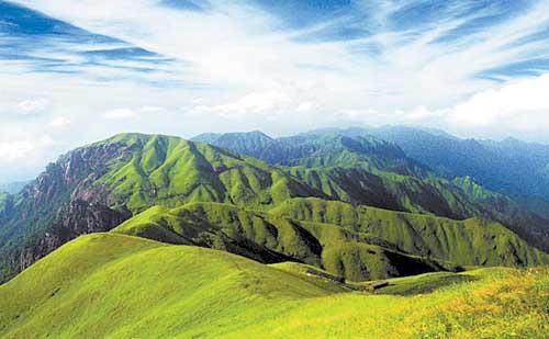 武功山风景名胜区属国家级风景名胜区,国家森林公园,国家地质公园,公